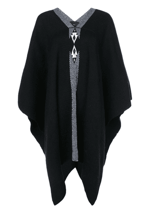Voz knitted poncho - Black