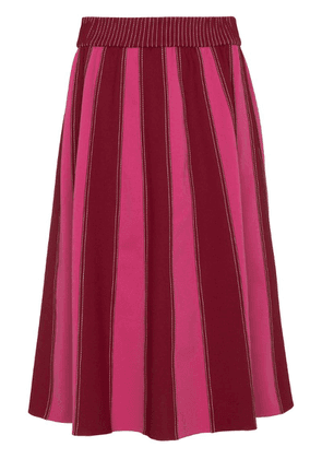 Valentino A-line midi skirt with contrasting panels - Pink