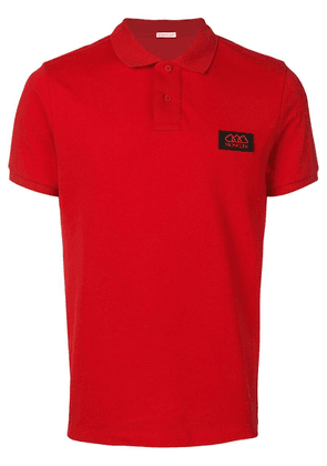 Moncler logo patch polo shirt - Red
