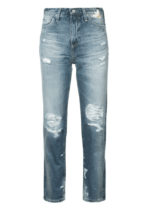 Ag Jeans distressed high-rise jeans - Blue