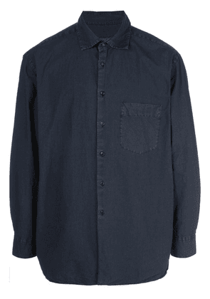 Casey Casey weathered shirt - Blue