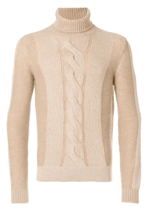 Loro Piana roll neck jumper - Brown
