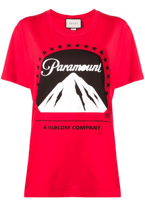 Gucci Paramount logo T-shirt - Red