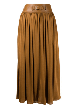 Ralph Lauren buckle pleated skirt - Brown