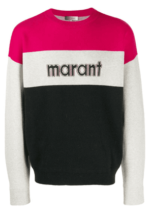 Isabel Marant logo knit sweater - Pink