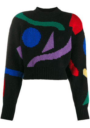 Attico intarsia-knit jumper - Black