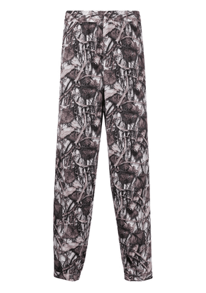 Doublet leaf print trousers - Brown