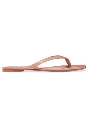 Gianvito Rossi - Leather Flip Flops - Taupe