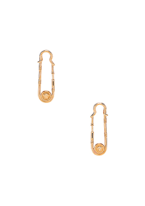 VERSACE Pin Earrings in Gold - Metallic Gold. Size all.