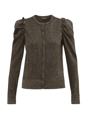 Dolce & Gabbana - Frilled Trimmed Lurex Cardigan - Womens - Black Gold