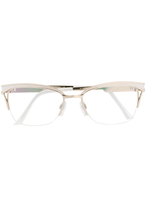 Cazal cat-eye shaped glasses - White