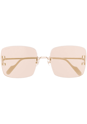 Cartier square shaped sunglasses - Gold