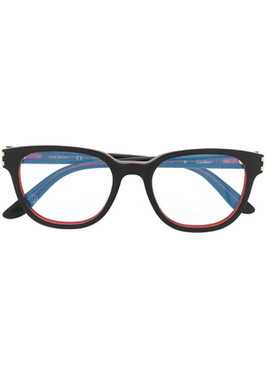 Cartier rectangular frame glasses - Black