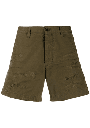 Dsquared2 distressed wide-leg shorts - Green