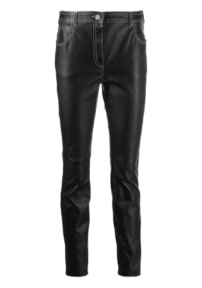 Givenchy slim fit leather trousers - Black