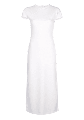 Marcia cut-detail shift midi dress - White
