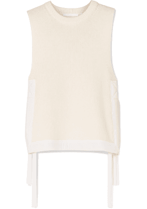 Helmut Lang - Military Shell-trimmed Ribbed Cotton Vest - Cream