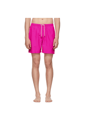Solid and Striped Pink Classic Swim Shorts