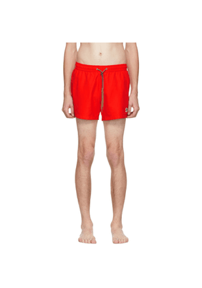 PS by Paul Smith Red Zebra Logo Swim Shorts