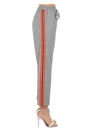 Checked Techno Pants W/ Side Bands