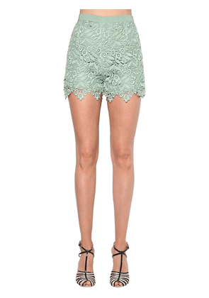 Cotton Blend Macramé Lace Shorts