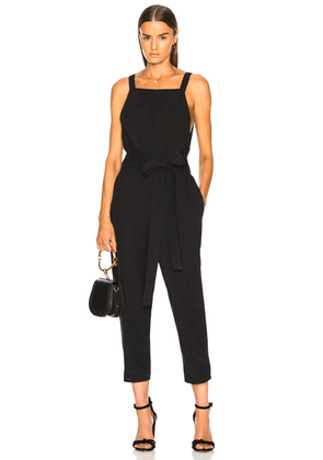 AG Adriano Goldschmied Darcy Jumpsuit in True Black - Black. Size XS (also in ).