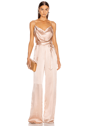 L'AGENCE Rannah Cowl Jumpsuit in Petal - Pink. Size 2 (also in 4).