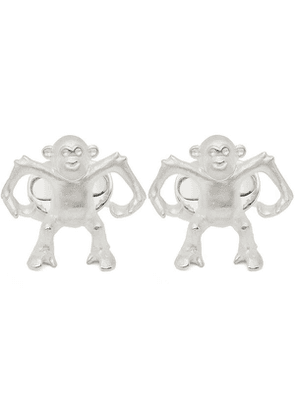 Sterling Silver Dancing Monkey Cufflinks