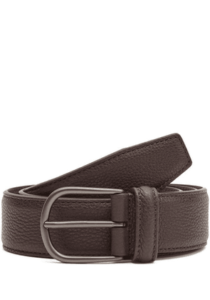 Grained Calf Leather Belt