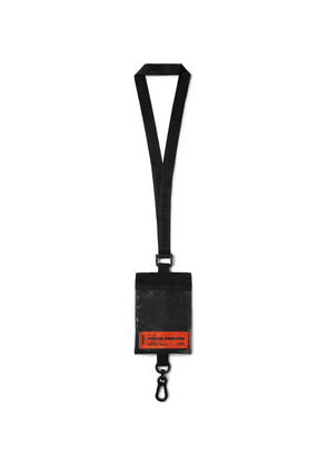 Heron Preston - Shell And Pvc Passport Lanyard - Black