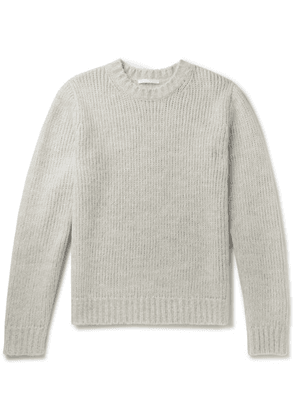 Helmut Lang - Ribbed Mélange Knitted Sweater - Gray