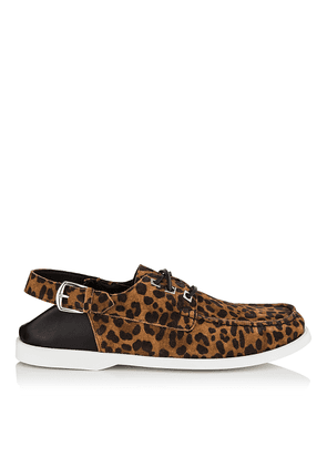 ORSON Sugar Mix Leopard Print Suede Loafer