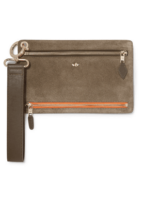 ZOOBEETLE Paris - Hong Kong Leather And Suede Pouch - Green