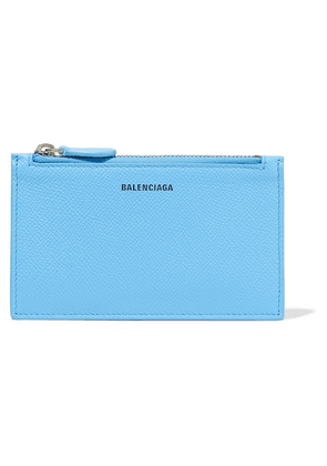 Balenciaga - Ville Printed Textured-leather Cardholder - Blue