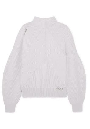 Carven - Ribbed Merino Wool Sweater - Lilac
