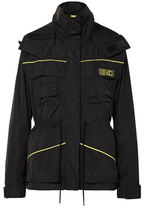 KENZO - Embroidered Shell Hooded Jacket - Black