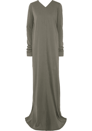 Rick Owens - Cotton-jersey Maxi Dress - Gray