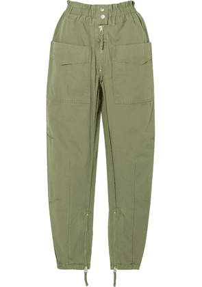 Isabel Marant Étoile - Lecia Cotton Tapered Pants - Army green