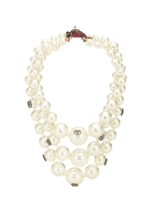 Strawberry faux pearl necklace