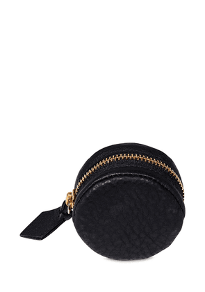 Zip-up Leather Grinder Pouch
