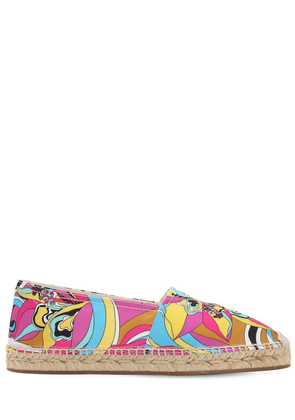 10mm Merida Printed Twill Espadrilles