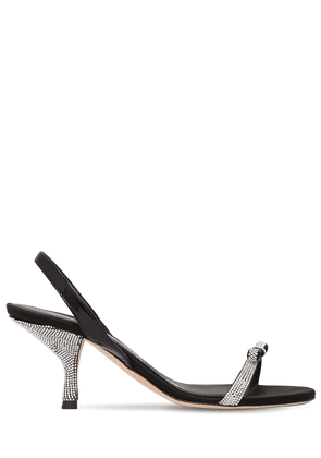 70mm Satin & Patent Leather Sandals