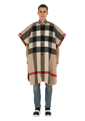 Reversible Wool Blend Double Cape