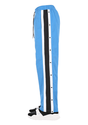 Nylon Track Pants W/ Side Buttons