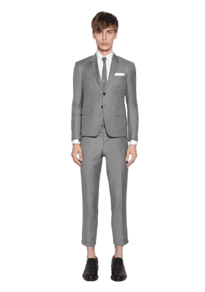 Skinny Fit Light Wool Gabardine Suit