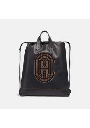 Coach Academy Drawstring Backpack With Patch