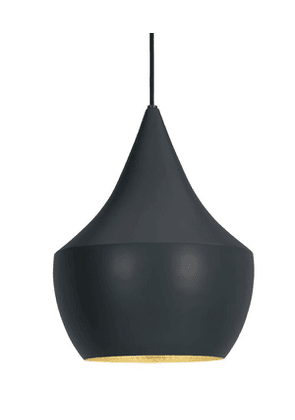 Beat Fat Black Pendant Light