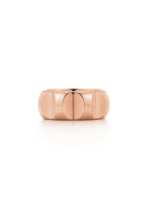 Paloma's Groove wide ring in 18k rose gold, 9 mm wide - Size 13