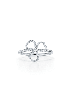 Tiffany Paper Flowers® diamond open flower ring in platinum - Size 6