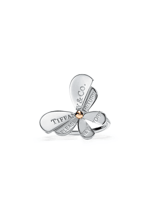 Return to Tiffany™ Love Bugs butterfly ring in sterling silver and rose gold - Size 8